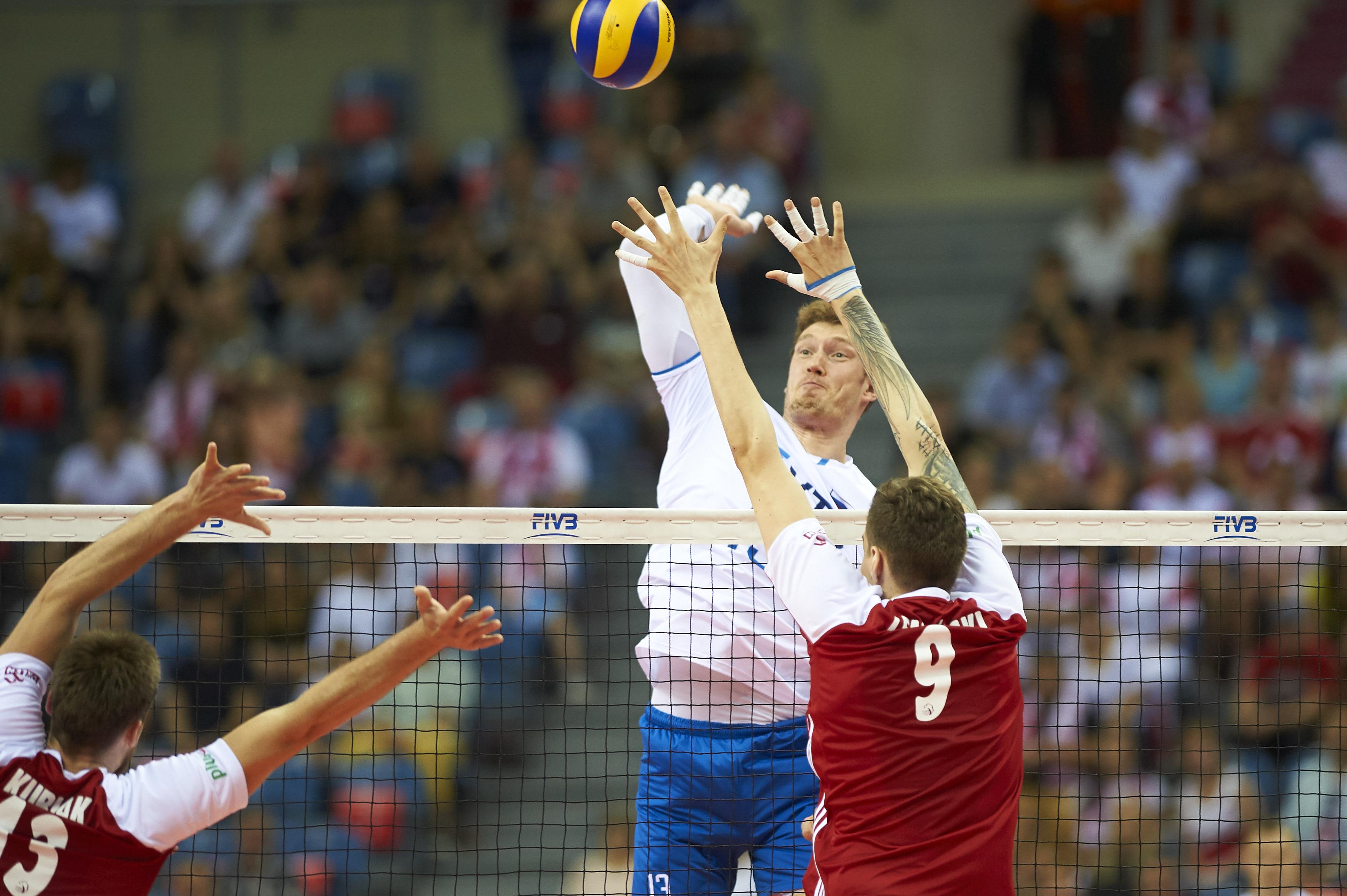 Дмитрий Мусэрский из мужской сборной России по волейболу